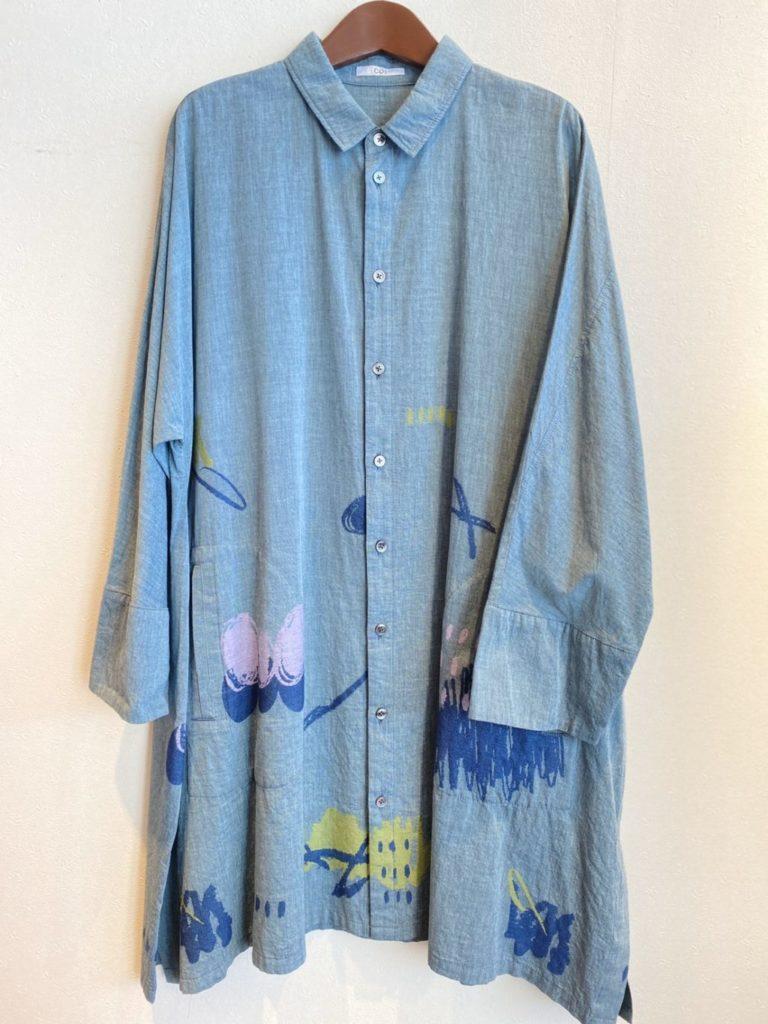 ロングブラウス/コズ ・・・刺繍ゴブラン織りロングブラウス。羽織りとしてもお使いいただけます。